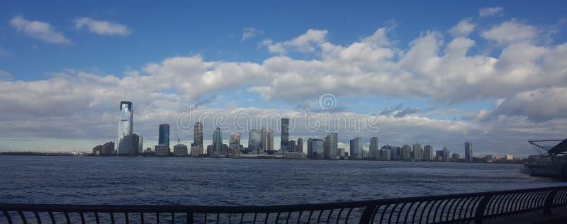 Panorama Skyline Liberty Statue New York City, Manhattan stock images