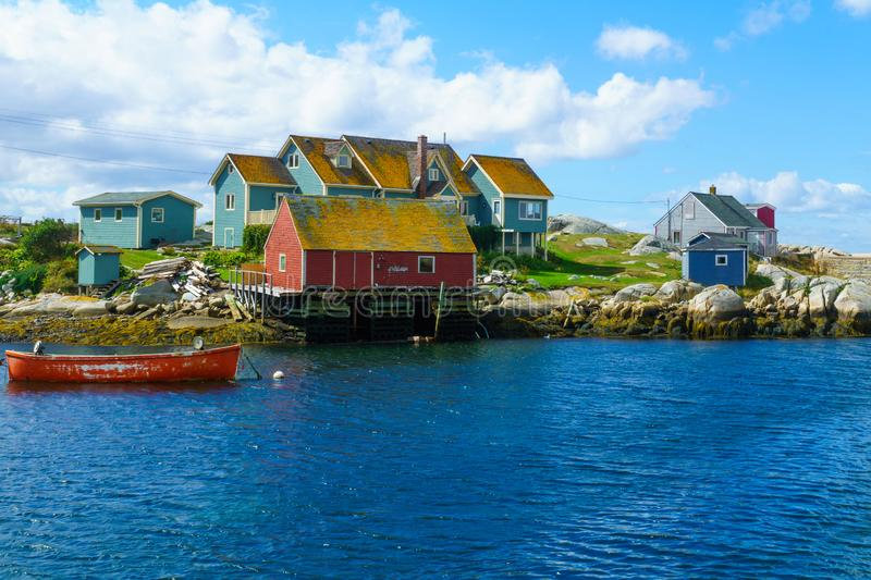The fishing village Peggys Cove royalty free stock photos