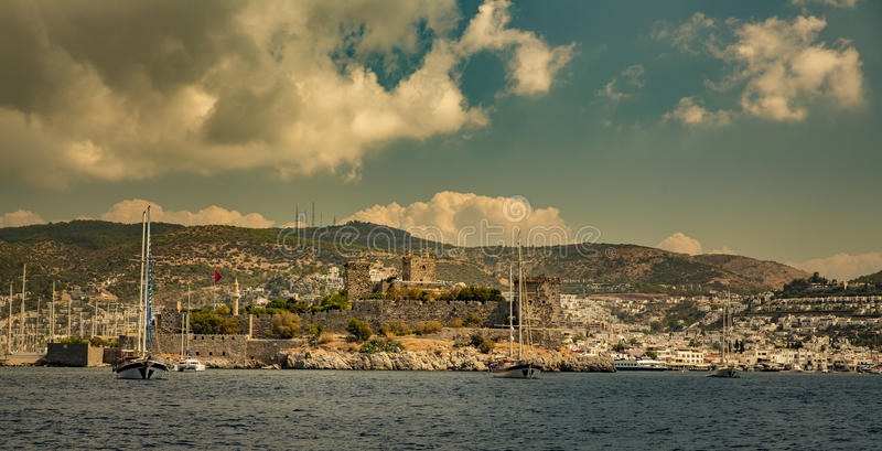 View of Bodrum Castle. On Turkish Riviera stock photos
