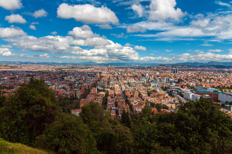 View of Bogota, Colombia stock photo