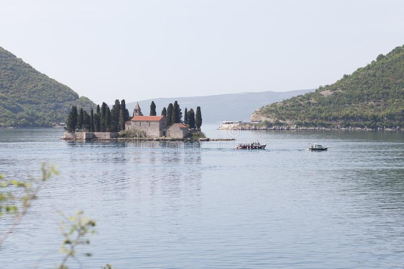 View of Boka Kotorska Bay. Boka Kotorska Bay royalty free stock photo