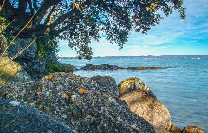 Bolsena lake. View of Bolsena lake in Lazio, Italy stock photography