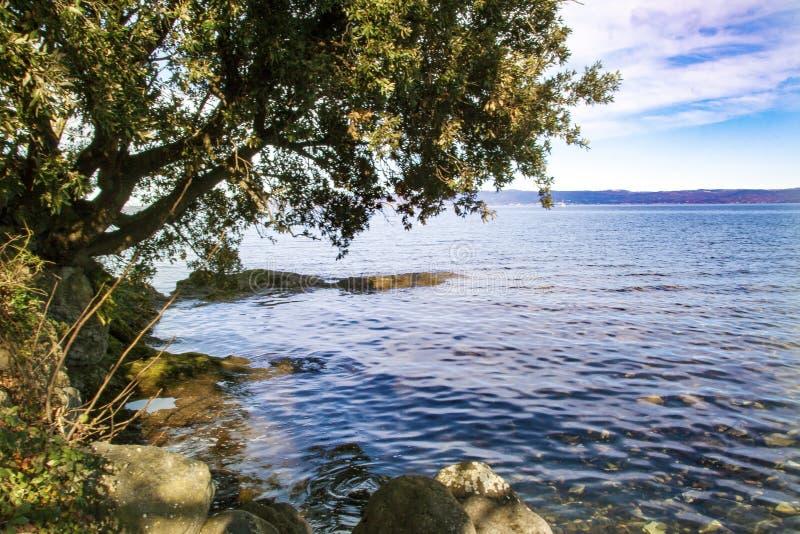 Bolsena lake. View of Bolsena lake in Lazio, Italy royalty free stock photography