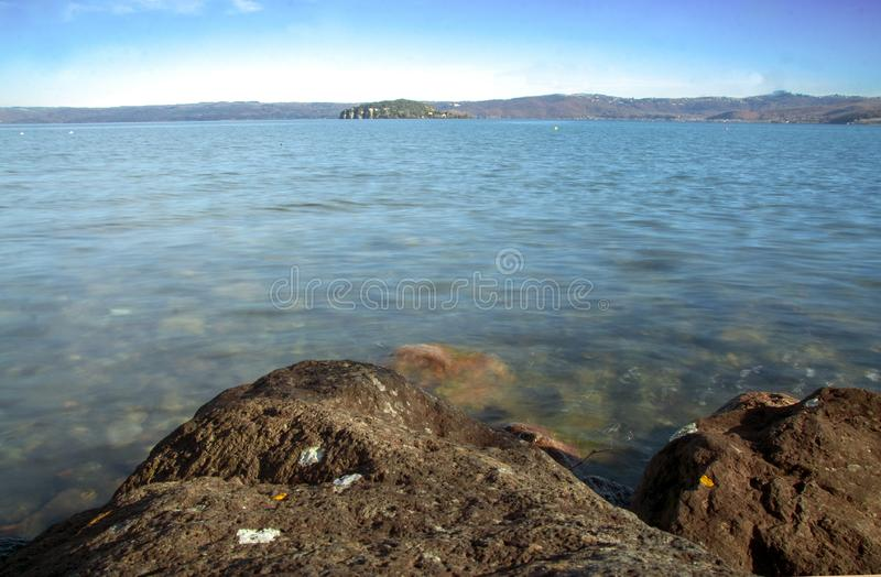 Bolsena lake. View of Bolsena lake in Lazio, Italy stock images