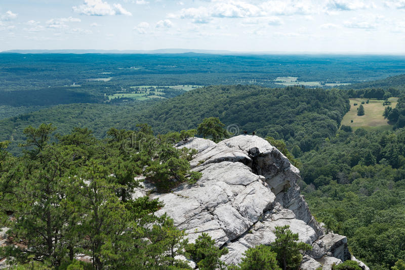 View from Bonticou Crag, Mohonk Preserve New York. stock photography