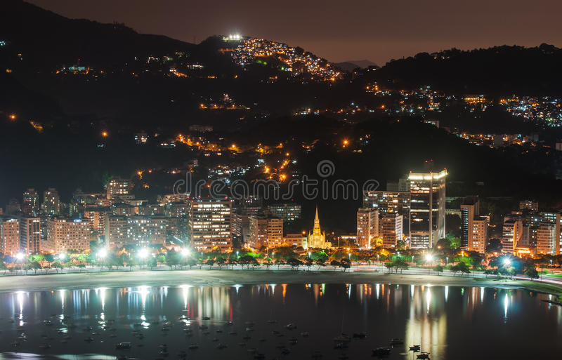 View of Botafogo and Guanabara bay in Rio de Janeiro royalty free stock images