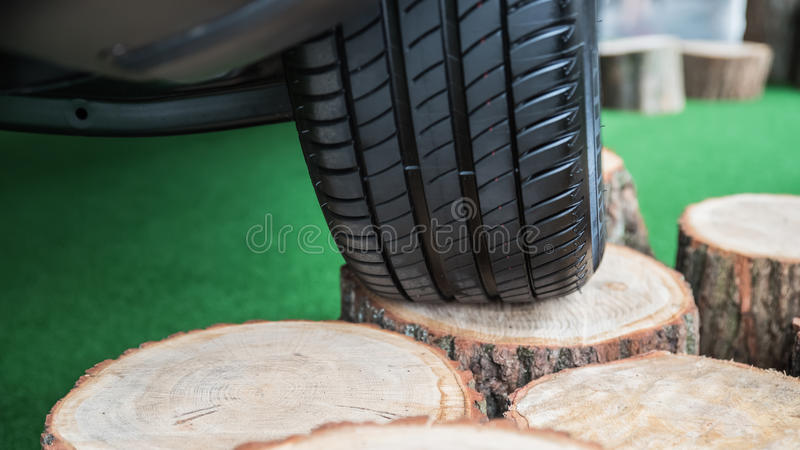 View from the bottom of car stock photography