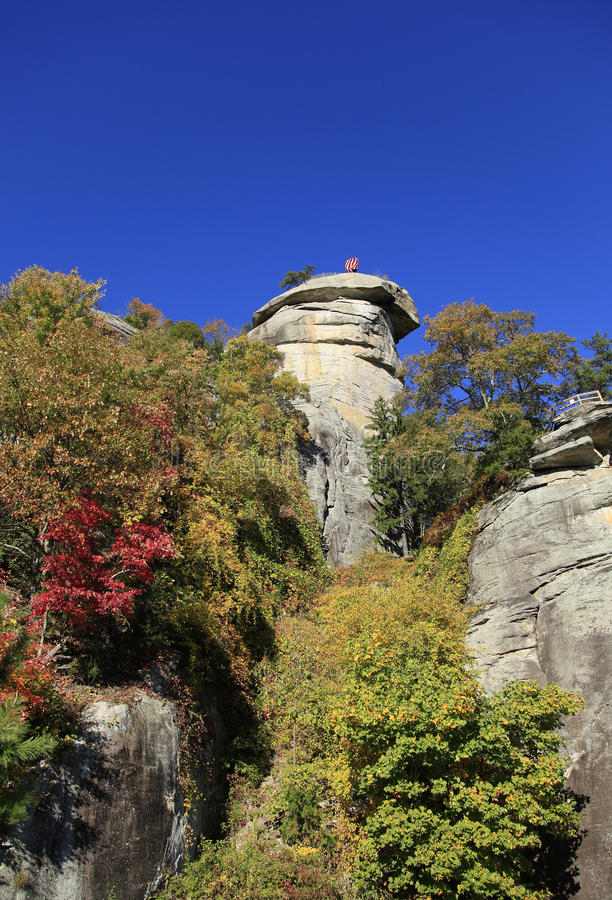 View from the bottom of Chimney Rock royalty free stock photos