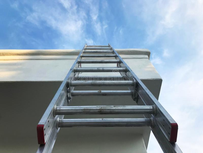 Looking Up a Ladder to the Sky royalty free stock photo