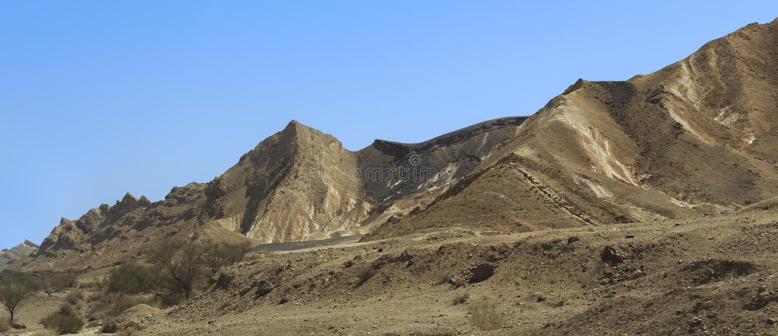 Crater Ramon in the Negev desert, Israel stock images