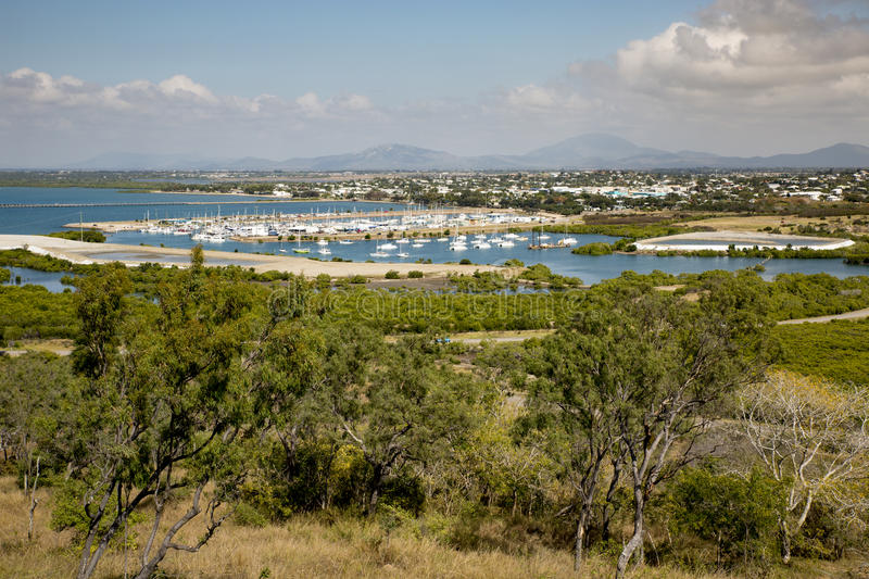 View of Bowen Harbour stock images