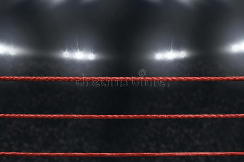 View of boxing ring rope stock photography