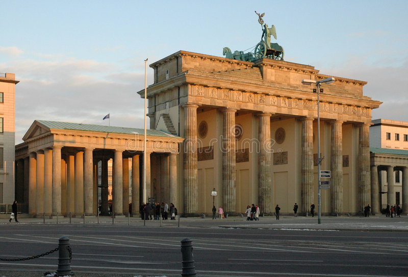 Download View Of Brandenburg Gate At Sunset Royalty Free Stock Images - Image: 181529