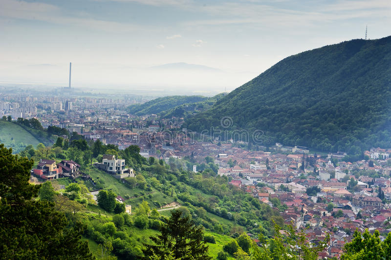View Brasov Romania. View of the city of Brasov in Romania royalty free stock photo