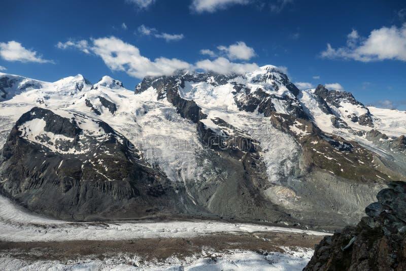 A view on Breithorn, Castor from Gornergratt stock images
