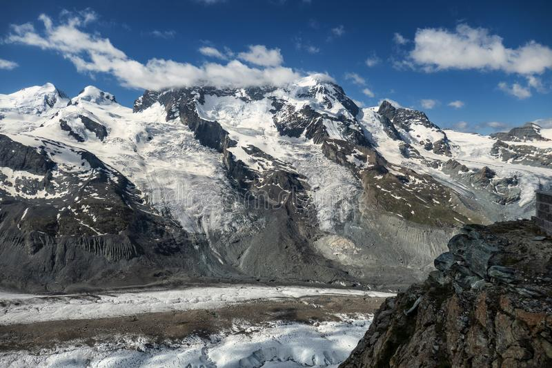 A view on Breithorn from Gornergratt royalty free stock images