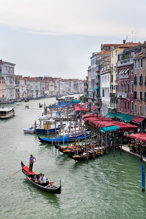 Download View From Bridge Ponte Di Rialto On Grand Canal Stock Image - Image: 13215927