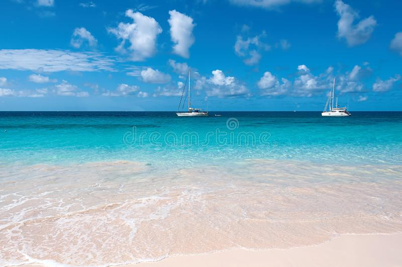 Bridgetown, Barbados - Tropical island - Caribbean sea - Brownes beach - Carlisle bay stock photography