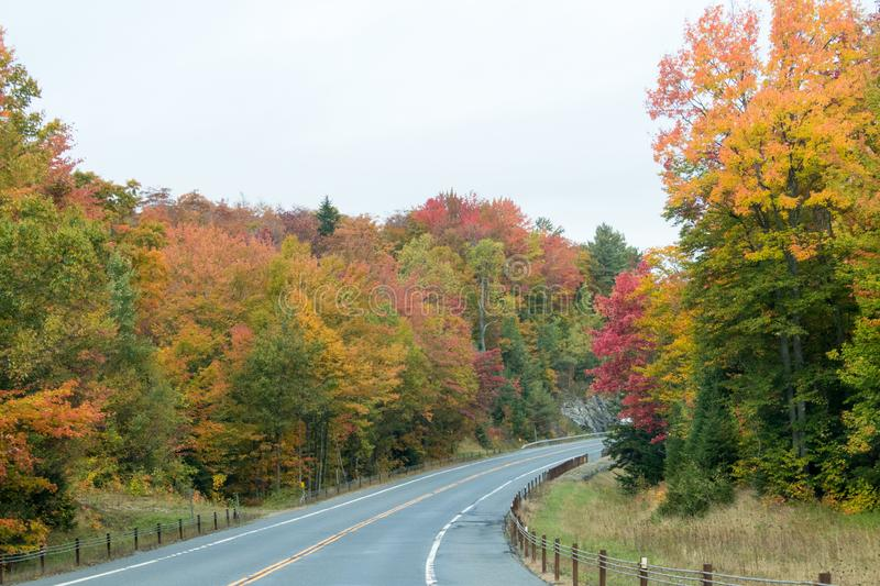 Fall colors in North America stock photography