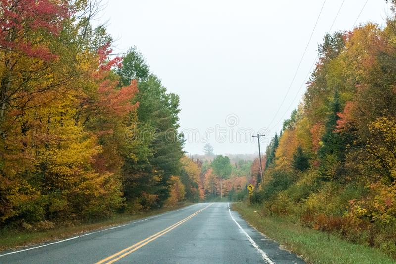 Fall colors in North America stock photos