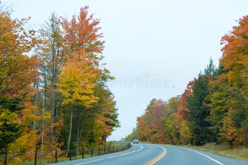 Fall colors in North America stock photo