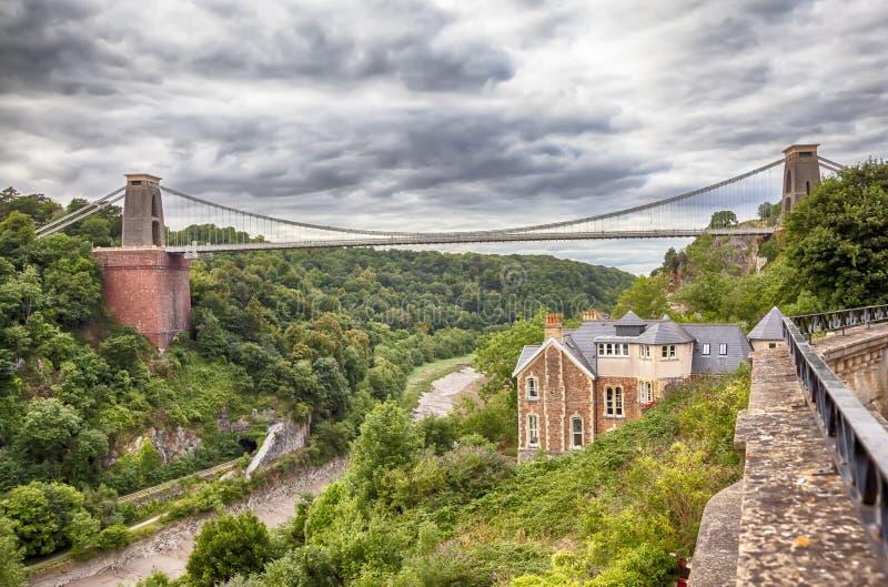View at Bristol bridge royalty free stock photography