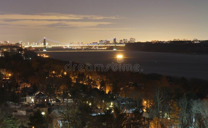 Bronx and Hudson river royalty free stock image