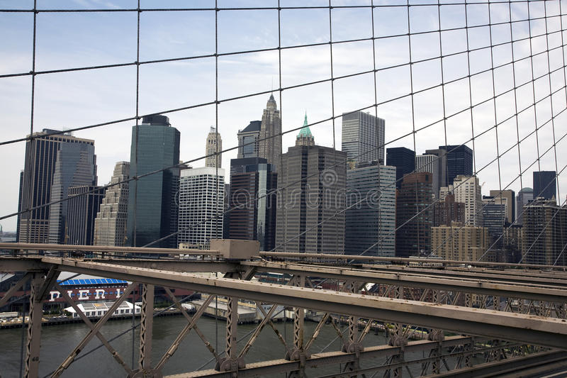 View from the Brooklyn Bridge royalty free stock image