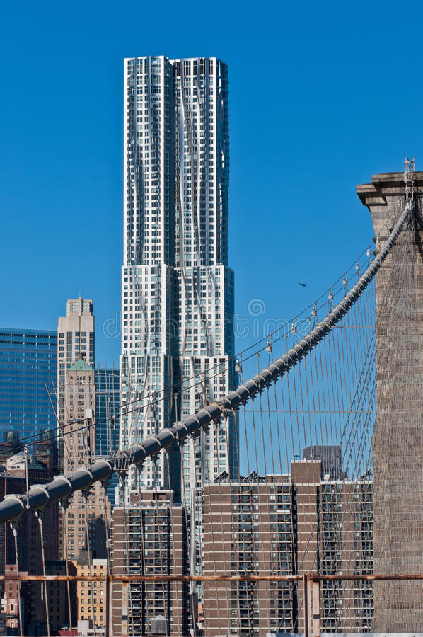 View from Brooklyn Bridge royalty free stock image