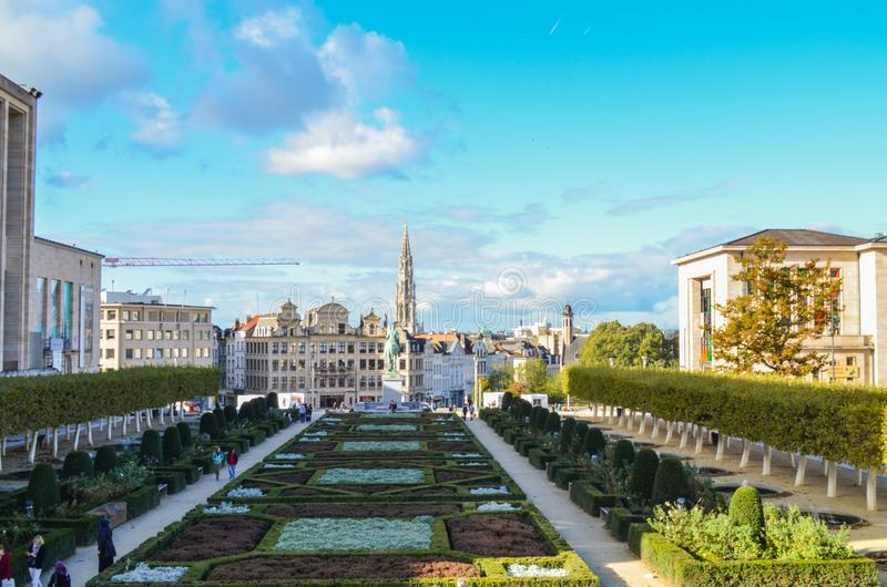 Brussels, capital of Belgium and your singular architecture stock images