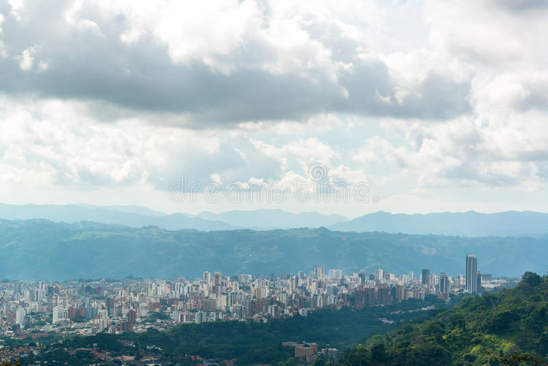 View of Bucaramanga, Colombia royalty free stock photo
