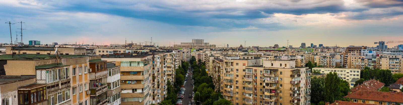 View of Bucharest stock images
