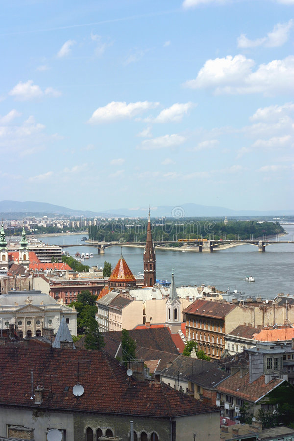 View of budapest with danube stock photo