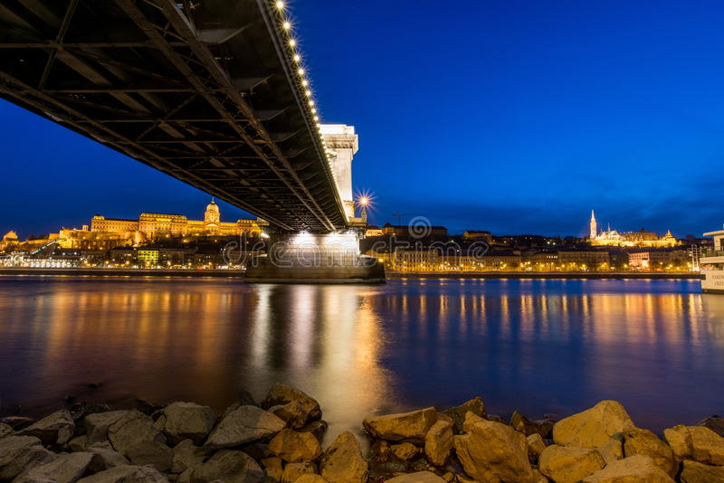 View of Budapest, Hungary. Europe royalty free stock photo
