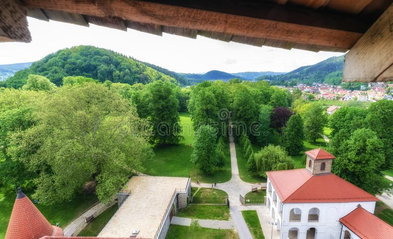 View from Budatin castle, Slovakia stock image