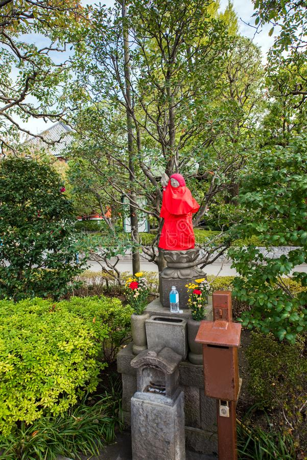 View of the Buddha statue in the city park, Tokyo, Japan. Vertical. stock photography