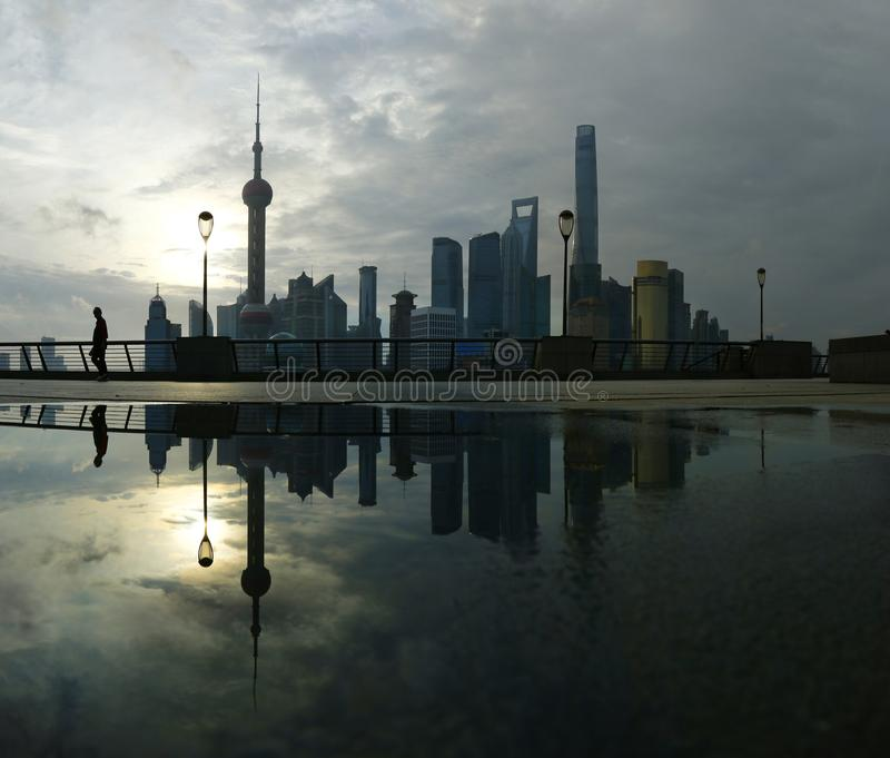 View of Shanghai, China royalty free stock photography