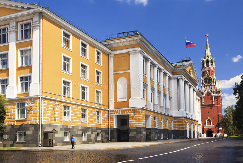 A view of the building of the Russian Presidential