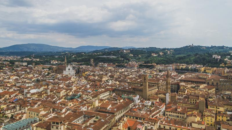 View of buildings and the city of Florence, Italy royalty free stock photography