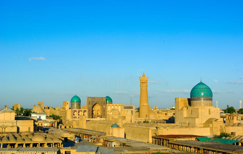 View of Bukhara. From the wall of the old fortress Ark stock photos