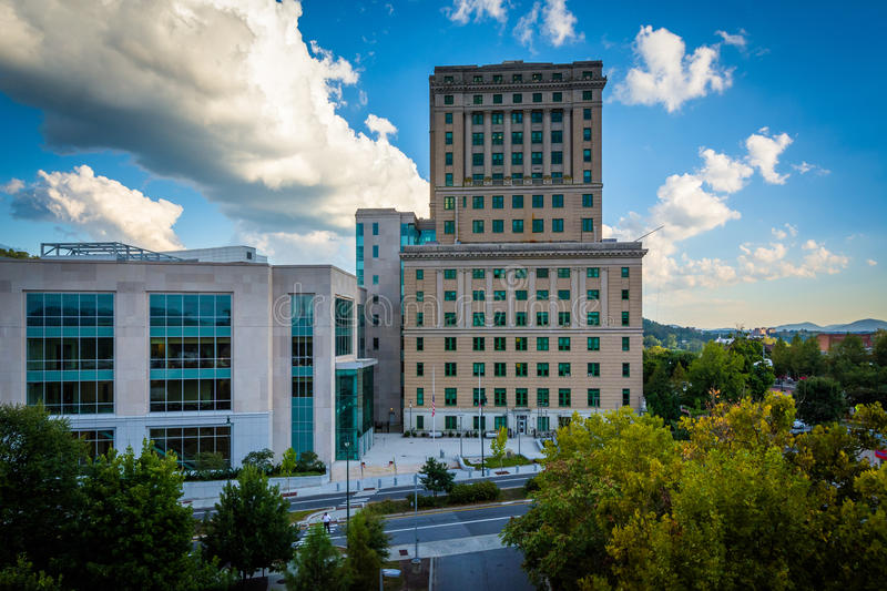 View of the Buncombe County Courthouse, in downtown Asheville, N. Orth Carolina royalty free stock photo