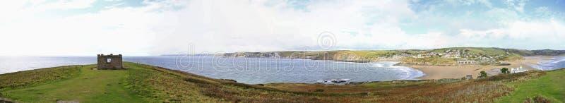 A view from Burgh Island, Devon. A stunning view from Burgh Island in South Devon royalty free stock photos