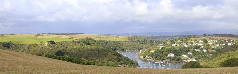 A view from Burgh Island, Devon. A stunning view from Burgh Island in South Devon stock photography