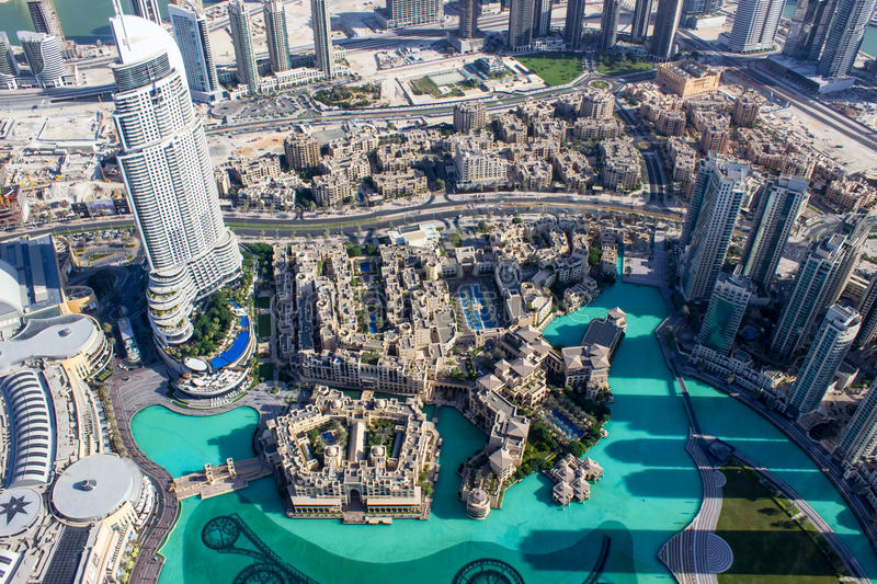 View from Burj khalifa tower 1 royalty free stock photography