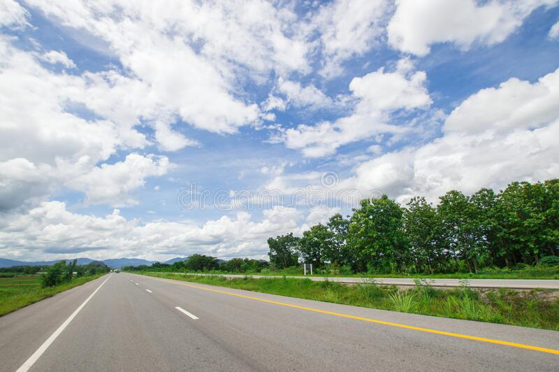 View of the bypass road in Chiang Rai city, Thailand. This is the bypass road in Chiang Rai city, Thailand. At 2019 July 28 stock photography