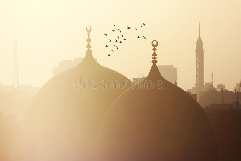 View of islamic cairo in egypt stock photo