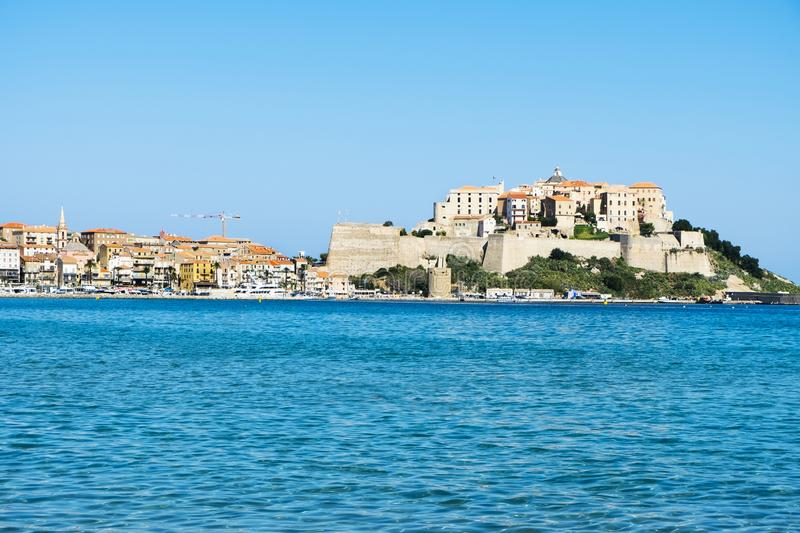 A view of Calvi, in Corsica, France royalty free stock photos