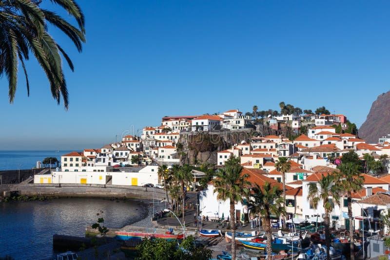 View of Camara de Lobos. Madeira island, Portugal royalty free stock photos