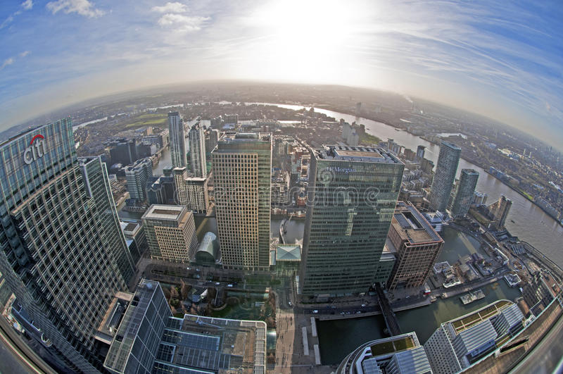 View of Canary Wharf royalty free stock photos