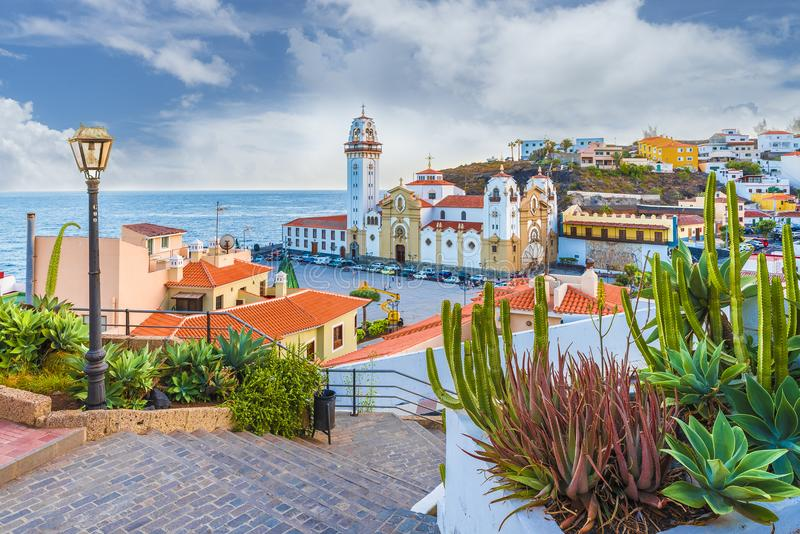 View of Candelaria city, Tenerife, Canary Islands, Spain royalty free stock photos